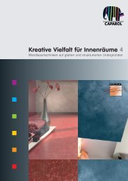 Kreative Vielfalt für Innenräume 4 - Caparol