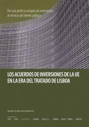 Los acuerdos de inversiones de la UE en la era del Tratado de Lisboa