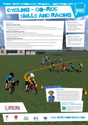 cycling - Go-Ride skills and Racing - School Games