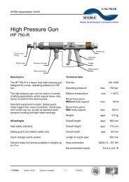 High Pressure Gun - HP 750-R - Woma