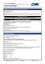 Neutralreiniger - CEBE Reinigungschemie GmbH