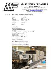 MASCHINEN FROMMER GmbH & Co KG