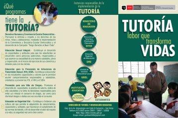 TUTORíA? - Ditoe - Ministerio de Educación