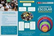 Tríptico - Convivencia Escolar Democratica - Dirección de Tutoría y ...