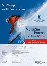 MultiZins Protect - Bankhaus Krentschker & Co. Aktiengesellschaft