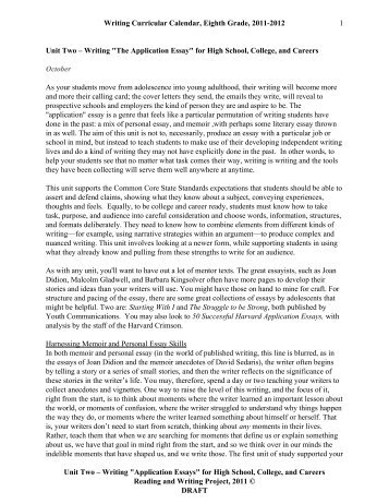 Admission essay writing 8th class