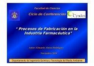 Procesos de Fabricación en la Industria Farmacéutica - IqTMA-UVa