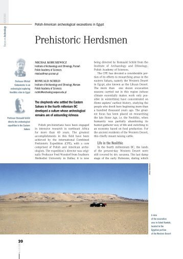 Prehistoric Herdsmen - Polish Academy of Sciences