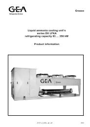 Grasso Liquid ammonia cooling unit's series DX LFKA refrigerating ...