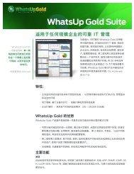 Ipswitch WhatsUp Gold - Ipswitch.ca