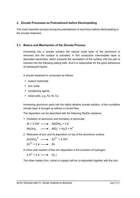 2  Zincate Processes as P