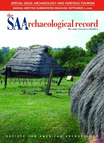 Archaeology and Heritage Tourism - Society for American ...