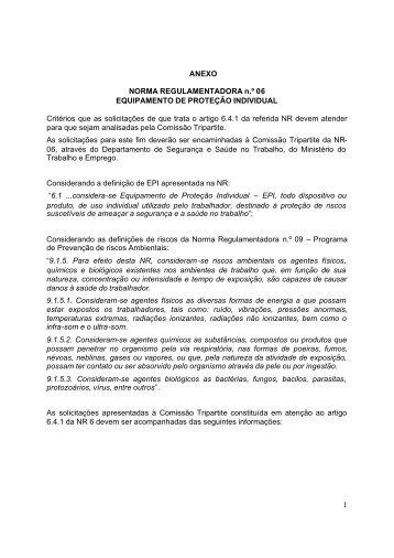 Solicitação de Análise de Equipamento para Inserção no Anexo I da ...