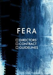 contract guidelines - Federation of European Film Directors