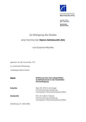Zur Erlangung des Grades - Susanne Nitschke