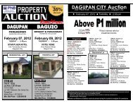 PNB foreclosed properties listing for the Dagupan auction on ...