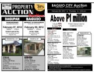 PNB foreclosed properties listing for the Baguio auction on February ...