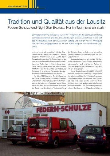 Tradition und Qualität aus der Lausitz - Federn Schulze