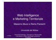 Web Intelligence e Marketing Territoriale