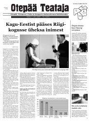 Kagu-Eestist pääses Riigi- kogusse üheksa inimest - Otepää vald
