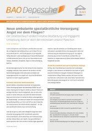 BAO Depesche, Heft 23/2011 - Bundesverband für Ambulantes ...