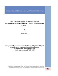 the temporal scope of application of international humanitarian law ...