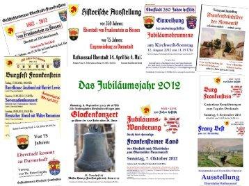 Da+ Jubiläum+jahr 2012 - Geschichtsverein Eberstadt - Frankenstein
