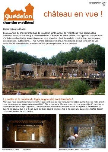 """Château en vue !"" N°1 (PDF - 411 Ko) - Guédelon"