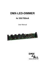 DMX-LED-DIMMER 4x 350/700mA - DMX4ALL GmbH