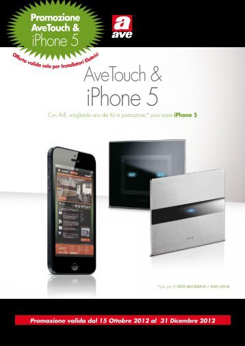 AveTouch & iPhone 5 - Domotica AVE Domina Plus