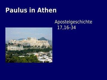 Apostelgeschichte 17,16-34 - EFG Hemsbach