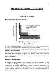 MACCHINE A CONTROLLO NUMERICO C.N.C.