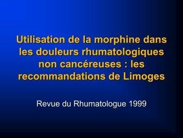 les recommandations de Limoges