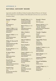 appendix a national advisory board - Jefferson Scholars Foundation