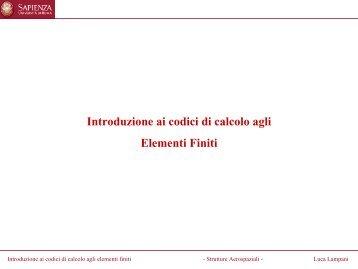 Introduzione ai codici di calcolo agli elementi finiti