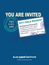 the Gala E-Vite - Blue Ocean Institute