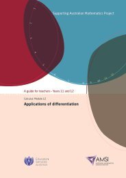Applications of differentiation - the Australian Mathematical Sciences ...
