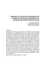 biodanza® srt: relatos de um experiência com um grupo de pessoas ...