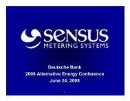 Sensus Metering Systems - Customers & Distributors