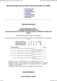 Braunschweig Lions vs Kiel B. Hurricanes (Sep ... - NewYorker Lions