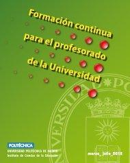 Formación continua para el profesorado de la Universidad - ICE ...