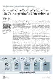 Kinaesthetics-TrainerIn Stufe 1 – die FachexpertIn für ... - die Zeitschrift