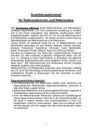 laut Beschluss der Schulkonferenz vom 30.11.2011 - Gymnasium ...