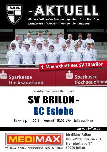 1. Ausgabe vom 11.09.2011 (PDF 4,3MB - SV 20 Brilon