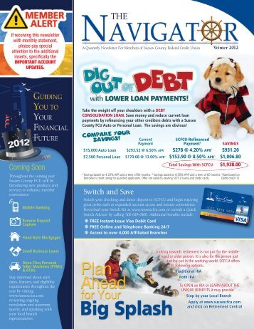 Winter 2012 - Sussex County Federal Credit Union