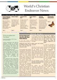 Download the lates issue in English. - World's Christian Endeavor ...