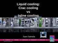 Energy Efficiency in Data Center Cooling