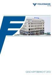 GESCHÄFTSBERICHT 2012 - Volksbank Wien AG