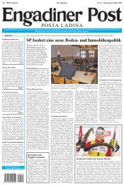 SP fordert eine neue Boden- und Immobilienpolitik - Engadiner Post