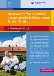 Generationenfreundlicher Betrieb Service + Komfort